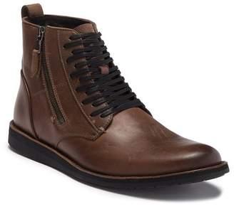 John Varvatos Star B Side Zip Distressed Leather Boot