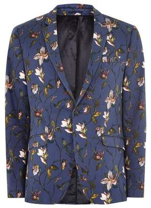 Topman Mens Navy Tulip Skinny Suit Jacket