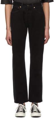 Bless SSENSE Exclusive Black Pleatsfront Jeans