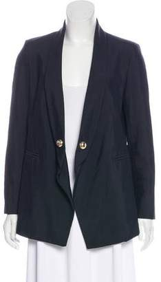 Anthony Vaccarello Shawl Lapel Long Sleeve Blazer