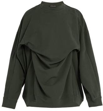 Y/Project Double Layer Cotton Sweatshirt - Mens - Khaki