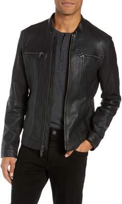 John Varvatos Regular Fit Leather Jacket