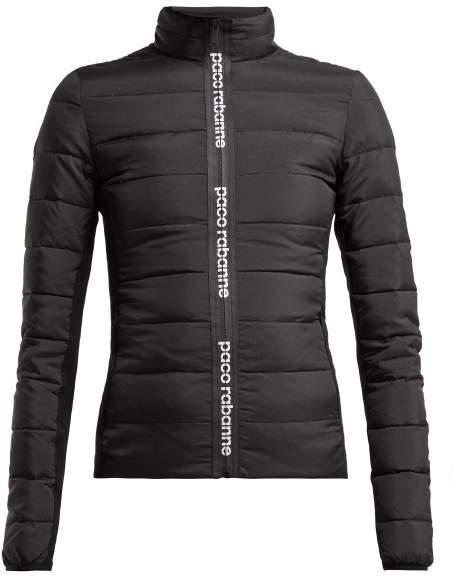 Printed Logo Padded Jacket - Womens - Black