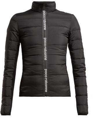 Paco Rabanne Printed Logo Padded Jacket - Womens - Black