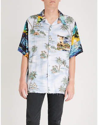 Hollywood Trading Company Hawaii Patchwork regular-fit woven shirt