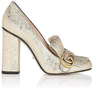 Gucci Women's Marmont Metallic Leather Pumps