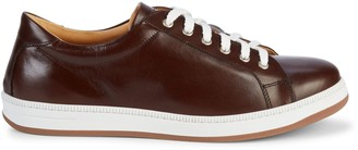 Saks Fifth Avenue Made In Italy Perforated Leather Sneakers