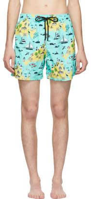 Vilebrequin Green Marthas Vineyard Moorea Swim Shorts