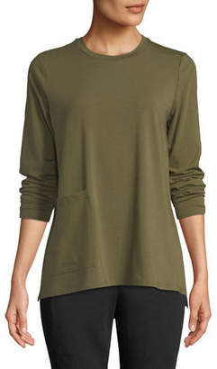 Eileen Fisher Organic Cotton Jersey Pocket Top, Plus Size