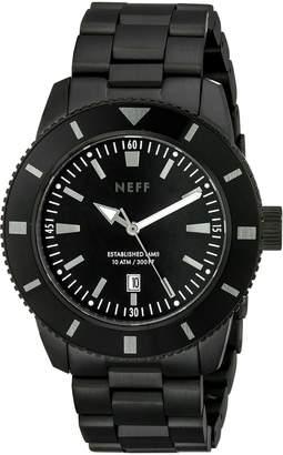 Neff Men's NF0233BLCK Pretender Analog Display Japanese Quartz Silver Watch