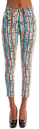 Ziggy The Rib Warmers Hi-Waisted Ankle Skinny Jean in Bombay Rock