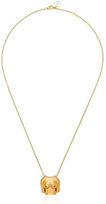 Anissa Kermiche Gold Plated Rubies Boobies doré pendant necklace
