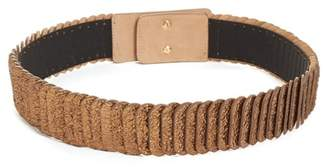 WtR - Pulcinella Bronze Leather Wide Elasticated Waist Belt