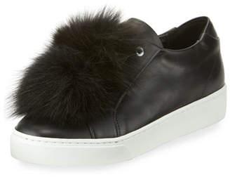 Sabrina Here/Now Fur Pompom Skate Sneakers