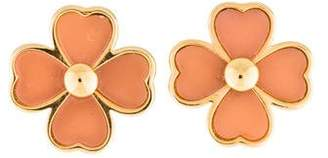 Tory Burch Resin Clover Stud Earrings