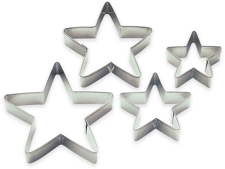 4-Piece Nesting Super Star Cookie Cutters