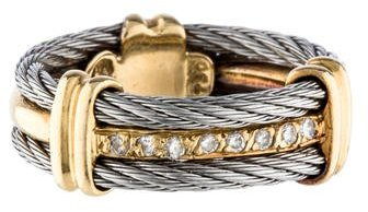 Charriol Charriol Two Tone Cord Diamond Ring Band