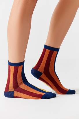 Out From Under Vertical Striped Crew Sock