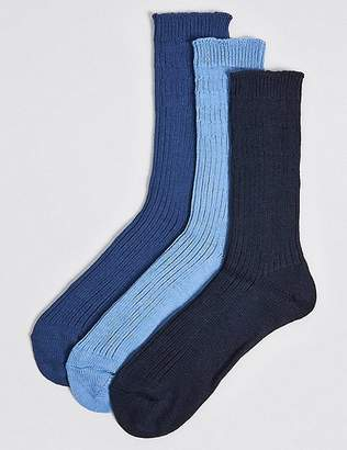 Marks and Spencer 3 Pairs Of Gentle Grip Chunky Socks