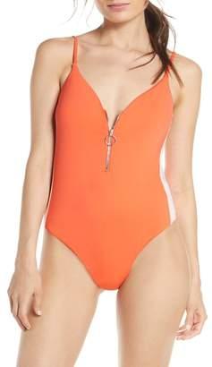 Bikini Lab The Front Zip One-Piece Swimsuit