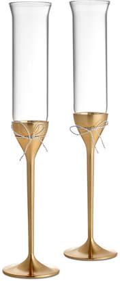 Vera Wang Wedgwood Love Knots Gold Toasting Flute Pair