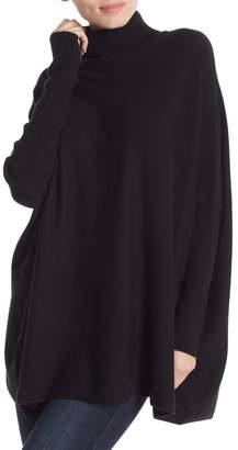 Joseph A Oversized Boxy Long Sleeve Turtleneck Sweater