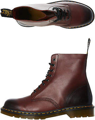 Dr. Martens New Women's Womens Pascal 8 Eye Boot Rubber Soft Leather Red