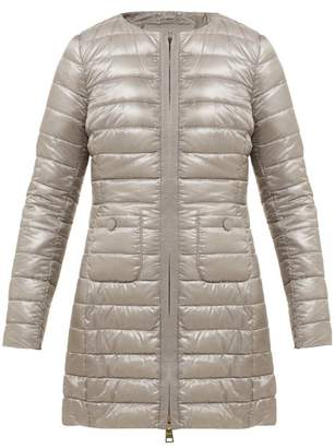 Herno Quilted Down Filled Coat - Womens - Silver