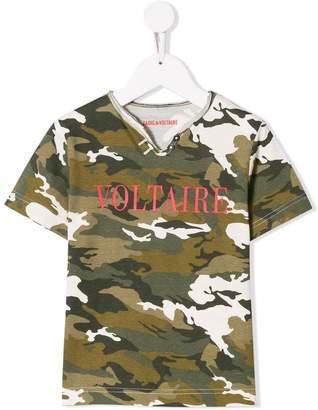 Zadig & Voltaire Kids camouflage print T-shirt