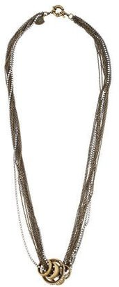Giles & Brother Multistrand Rhinestone Necklace $95 thestylecure.com