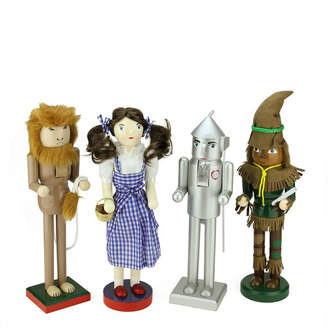 Northlight 4 Piece Decorative Wizard of Oz Wooden Christmas Nutcrackers Set