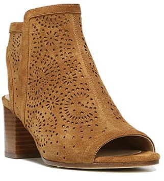 Women's Via Spiga Jorie Perforated Peep Toe Sandal $250 thestylecure.com