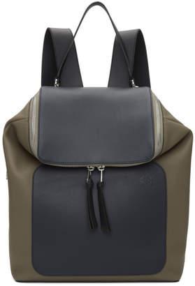 Loewe Taupe and Navy Goya Backpack