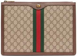Gucci GG Supreme canvas and leather portfolio
