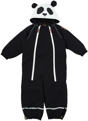 Mini Rodini Panda Waterproof Nylon Canvas Ski Suit