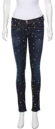 Rag & Bone Painted Low-Rise Skinny Jeans