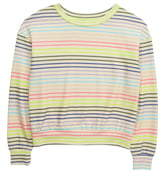 Love, Fire Active Stripe Sweatshirt
