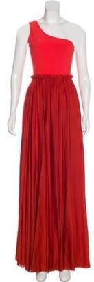 Lanvin One-Shoulder Evening Dress Orange One-Shoulder Evening Dress