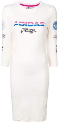 adidas Racing print T-shirt dress