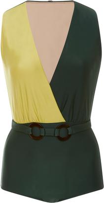 Adriana Degreas Bicolor Buckle Swimsuit
