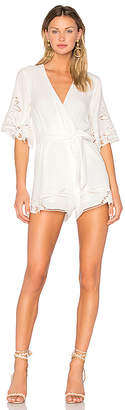 Lovers + Friends Lovers + Friends Brixton Romper in Ivory $188 thestylecure.com