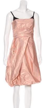 Burberry Strapless Silk Dress w/ Tags