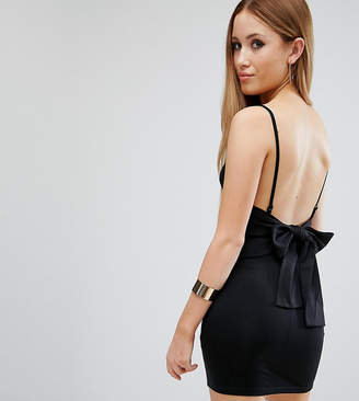 Asos Strappy Mini Bodycon Bow Back Dress