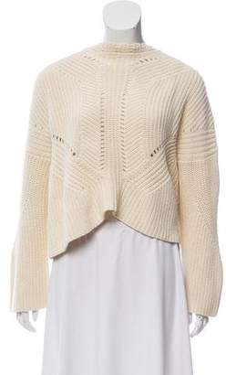 Isabel Marant Rib-Knit Lace-Up Sweater