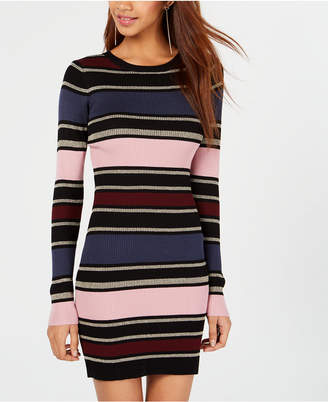 Planet Gold Juniors' Striped Sweater Dress