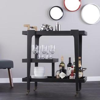 Mid-Century MODERN Southern Enterprises Holly & Martin Zhori Midcentury Modern Bar Cart, Black