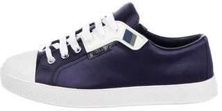 Prada Sport Satin Low-Top Sneakers