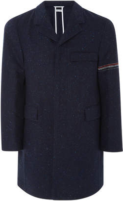 Thom Browne Classic Wool-Blend Chesterfield Coat
