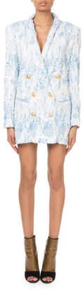 Balmain Degrade Sequin 6-Button Jacket Dress