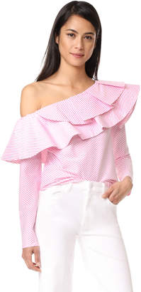 STYLEKEEPERS Ruffle One Shoulder Top $99 thestylecure.com